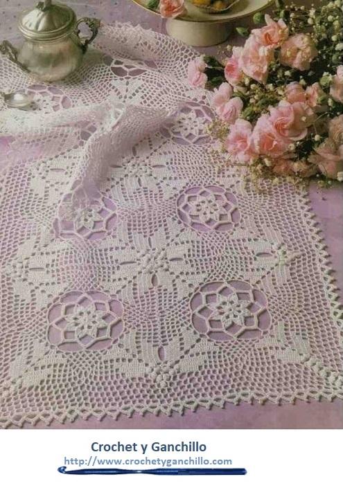 Caminos de mesa decorativos camino de mesa elegante al for Camino de mesa elegante en crochet